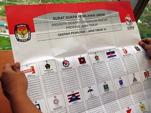 wajah surat suara pemilu 2009