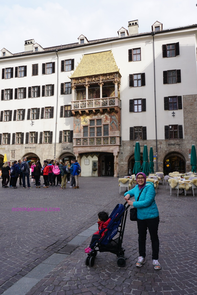 The Goldenes Dachl (Golden Roof) is a landmark structure located in the Old Town (Altstadt) section of Innsbruck, Austria. It is considered the city's most famous symbol