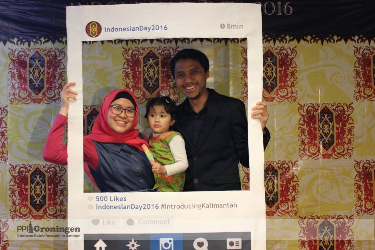 Indonesian Day photo booth (Sesi Siang pas bazar)