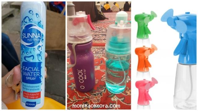 Water spray dan botol minuman semprot